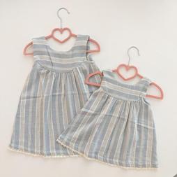 Stripes Woven Tank Lace Dress