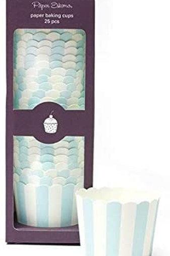 Powder Blue Baking Cups