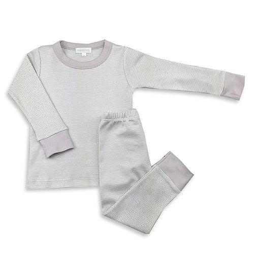 Grey Mini Stripe Long Pijama