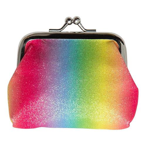 Neon Rainbow Glitter Coin Purse