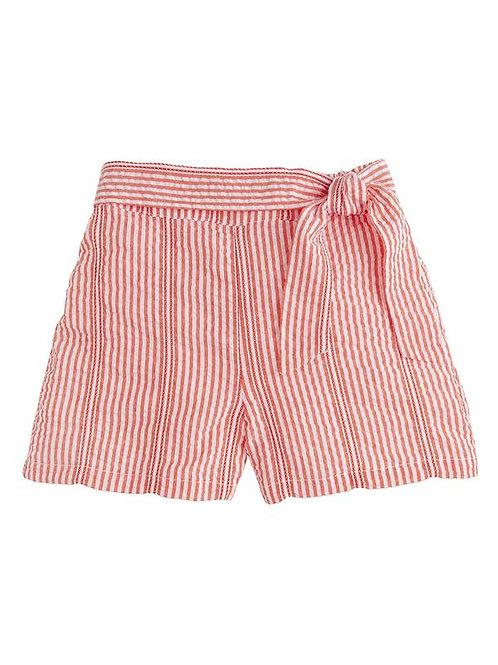 Fancy Red Seersucker Bow Short