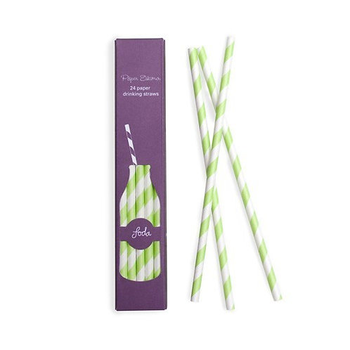 Apple Green Paper Straw