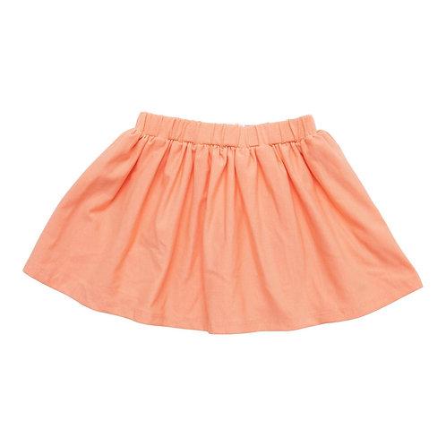 Bright Peach Twirl Skirt