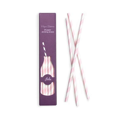 Marshmallow Pink Paper Straw