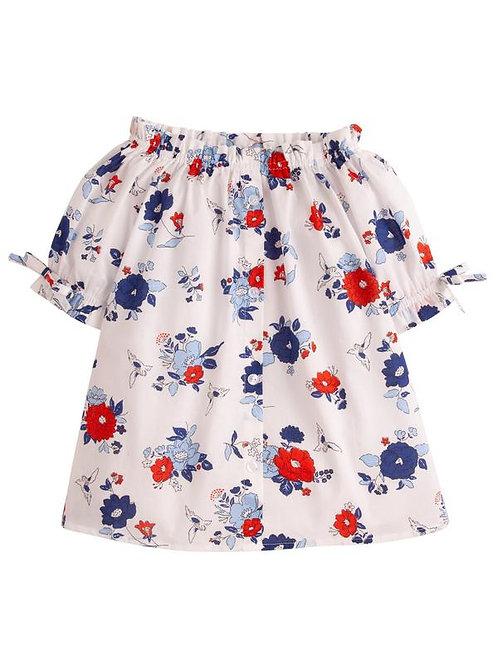 Patriotic Floral Millie Top