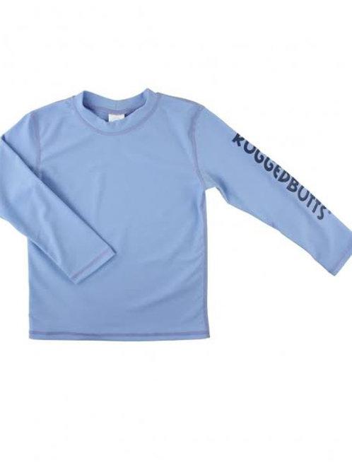 Cornflower Blue Logo Long Sleeve Rash Guard
