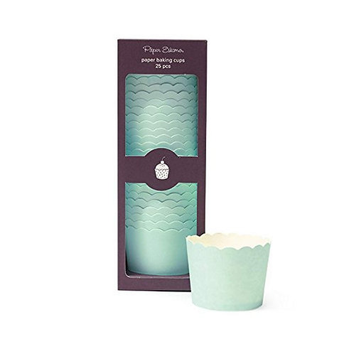 Solid Mint Baking Cups