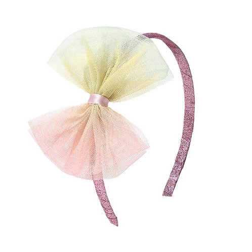 Pastel Tie Dye Bow Hard Headband