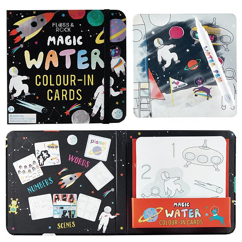 Space Magic Changing Color Water Cards