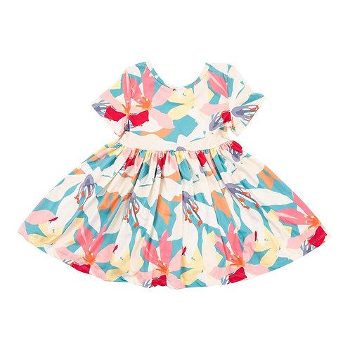 Little Lilies Short Sleeve Dress