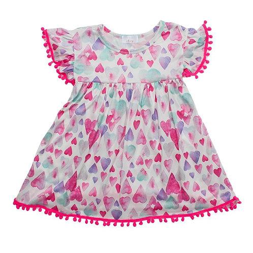 Light Hearted Pom Pom Dress