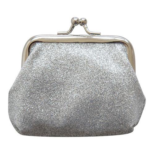 Silver Glitter Coin Purse