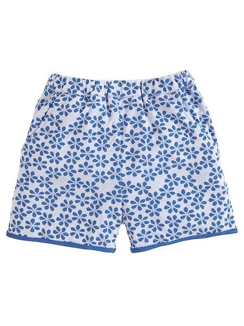 Blue Floral Basic Short