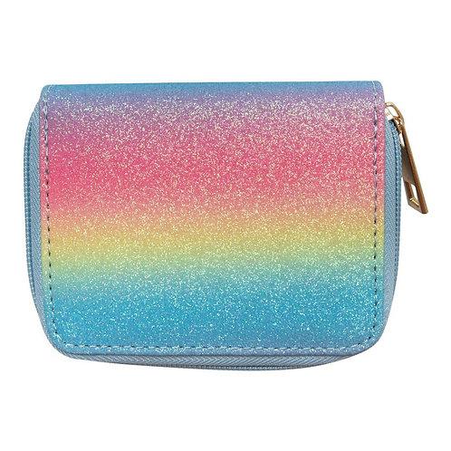 Neon Rainbow Glitter Wallet