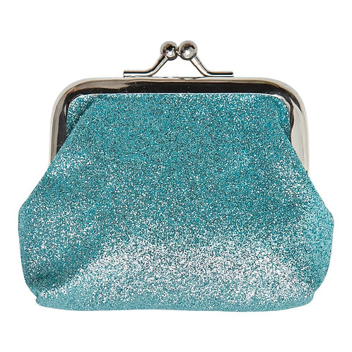 Aqua Glitter Coin Purse