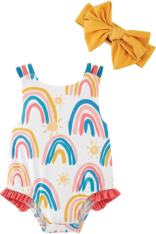 Rainbow Swimsuit with Headband