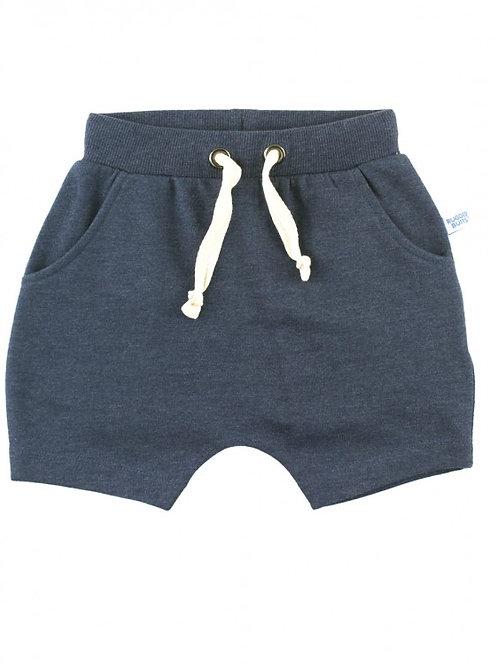 Heather Navy Jogger Shorts