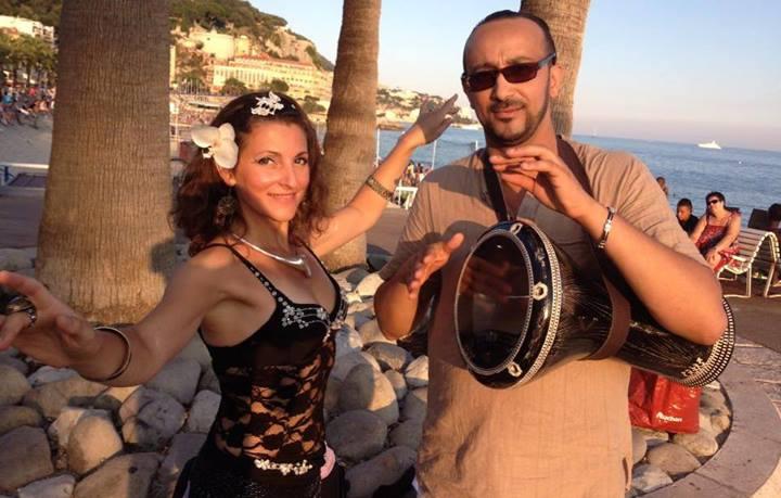 Adina et Kamel Bala, percussionniste