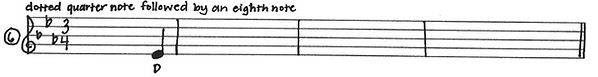 dotted quarter notes followed by an eigh