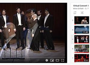 A virtual choir concert with interactive program notes