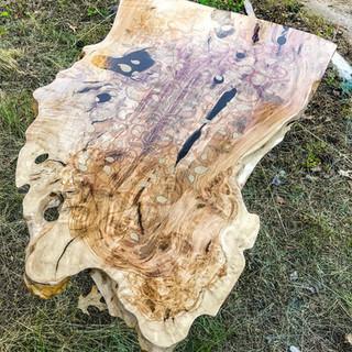 Custom made Olive wood table
