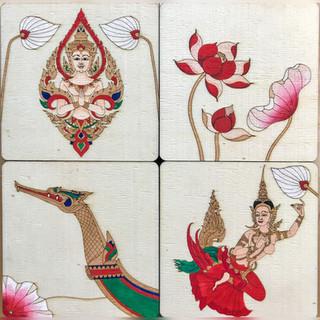Thai themed coasters.JPG