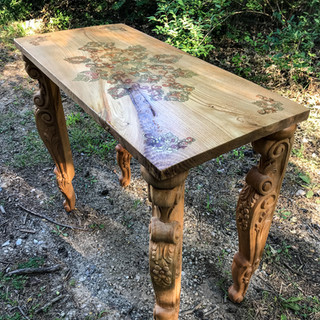Custom made Chestnut wood console