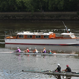 Rowers on the Thames at Putney