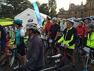 Riders at the Start of a Cycling Challenge