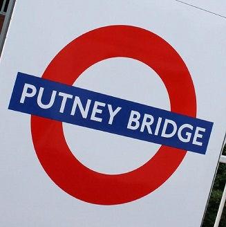 Putney Bridge Tube sign