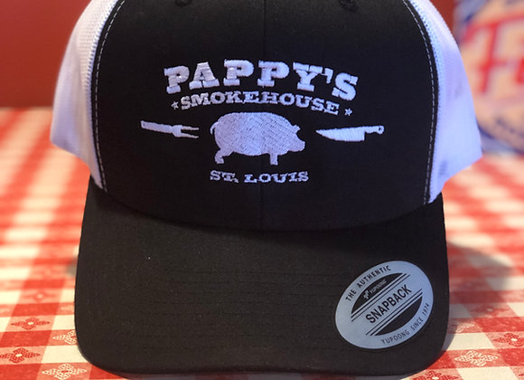 Pappy's Black & White Hat