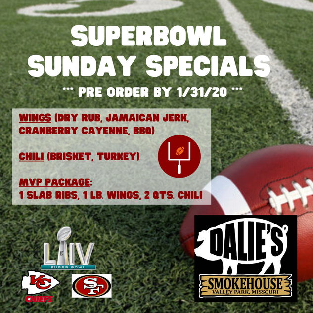 Dalie's Super Bowl Packages