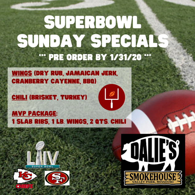 Dalie's Super Bowl Packages