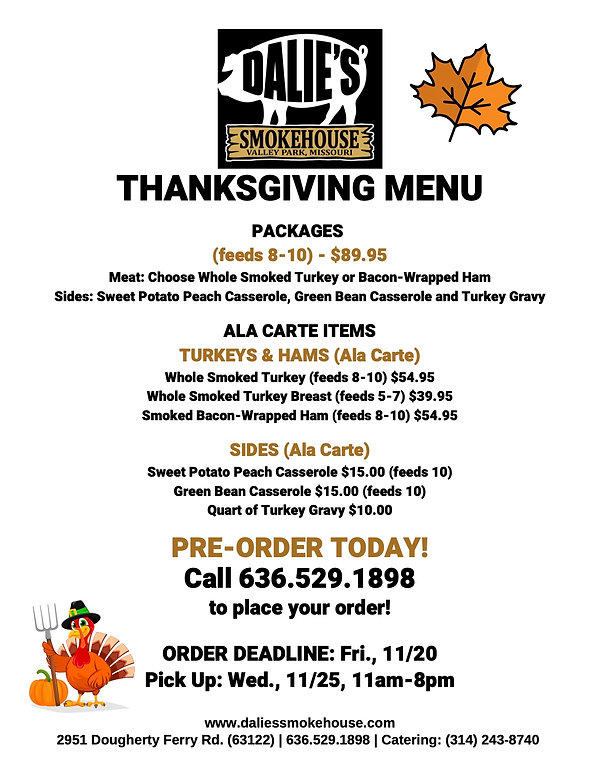 D_ 2020 Thanksgiving Ala Carte Menu_Flye