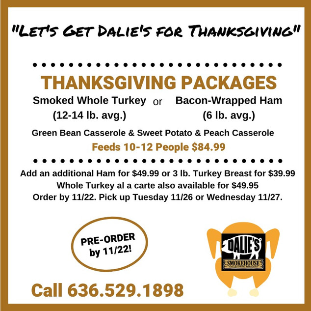 2019 Thanksgiving Packages