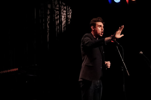 Performing at SONGS FOR THE HIDDEN, a benefit concert at Symphony Space. Photo credit: Marth Brown