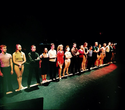 As Bobby in Emerson College's A CHORUS LINE. Photo credit: Isa Braun.