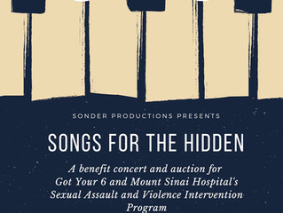 Sonder Productions Presents Songs for the Hidden Benefit Concert