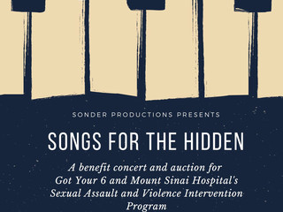 Sonder Productions Presents Songs for the Hidden Benefit Concert
