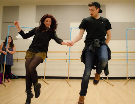 In rehearsal for THE LITTLE MERMAID. Photo credit: