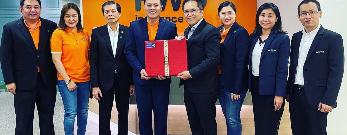 คุณมงคล ลุสัมฤทธิ์ เลขาธิการสมาคมพร้อมด้วยคณะกรรมการบริหารสมาคมผู้จัดการและเจ้าของสำนักงานตัวแทนประกันชีวิต GAMA Thailand เข้าพบคุณสหพล พลปัถพี ประธานเจ้าหน้าที่สายงานตัวแทนและคณะผู้บริหารระดับสูง บริษัท เอฟดับบลิวดี ประกันชีวิต จำกัด (มหาชน) เพื่อขอบคุณที่ให้การสนับสนุนกิจกรรมGAMA ในประเทศไทย