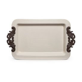 "23.8""L Acanthus Tray w/ Metal"