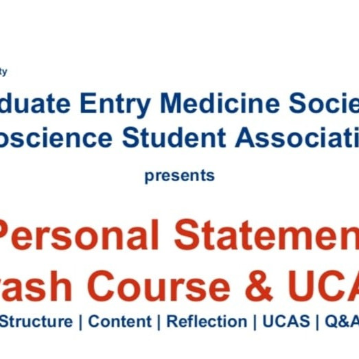 Personal Statement and UCAS Crash Course