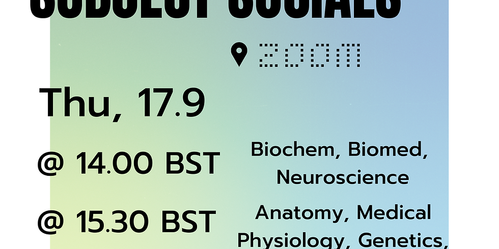 Social: Anatomy and Physiology + Medical Physiology Zoom Meet & Greet