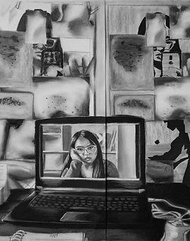 Kathia Lisset Campos Gómez_Autorretrato Estudio en pandemia..jpg
