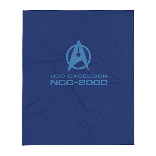 USS Excelsior NCC-2000 Throw Blanket