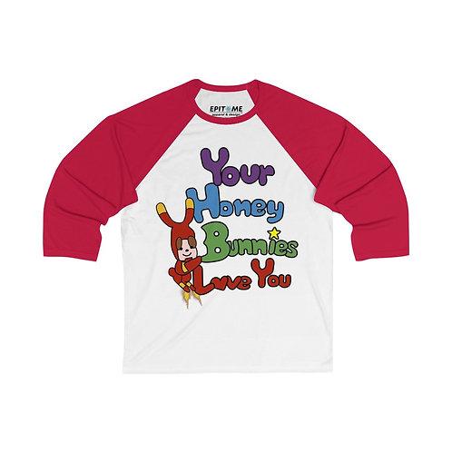 RDJ's Honey Bunny 3/4 Sleeve Baseball Shirt