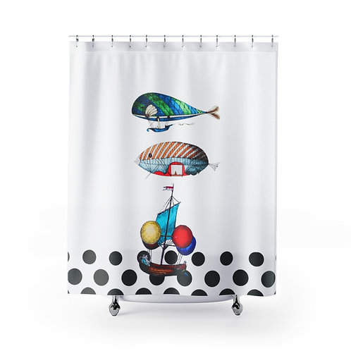 Fornasetti's Traveller Shower Curtains