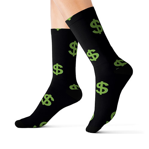 US Dollar Symbol Socks