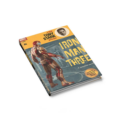Iron Man 3 Retro Styled Ruled Journal